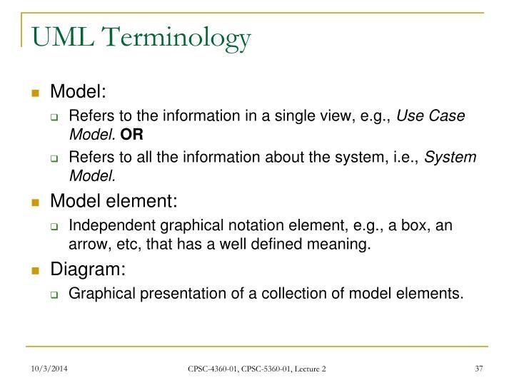 UML Terminology