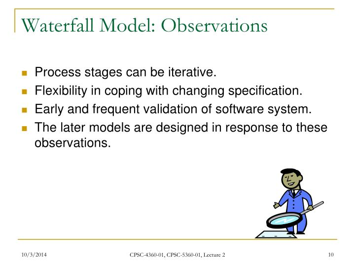 Waterfall Model: Observations