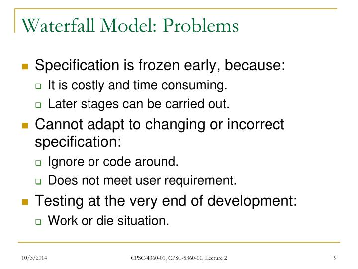 Waterfall Model: Problems
