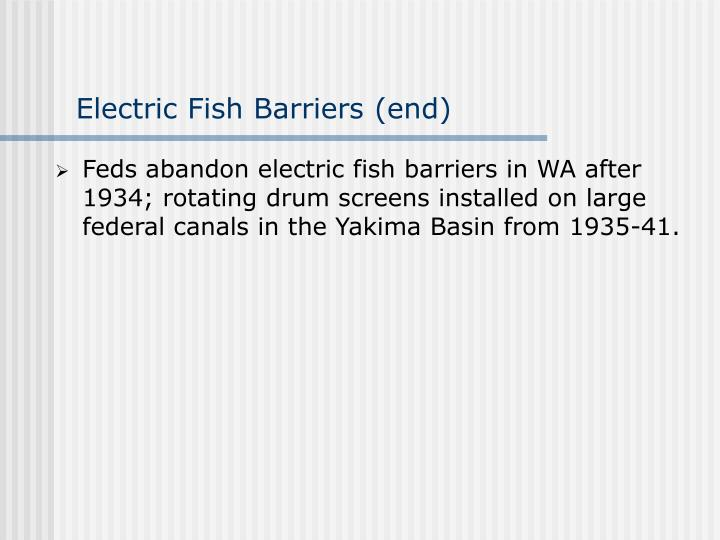 Electric Fish Barriers (end)