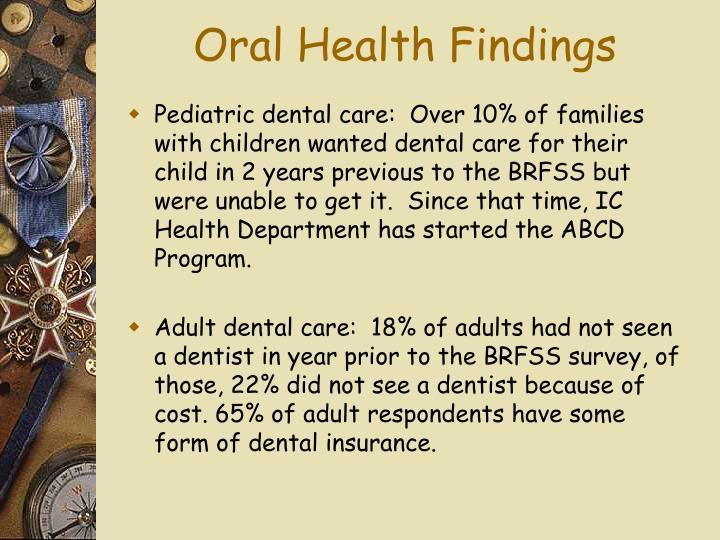 Oral Health Findings