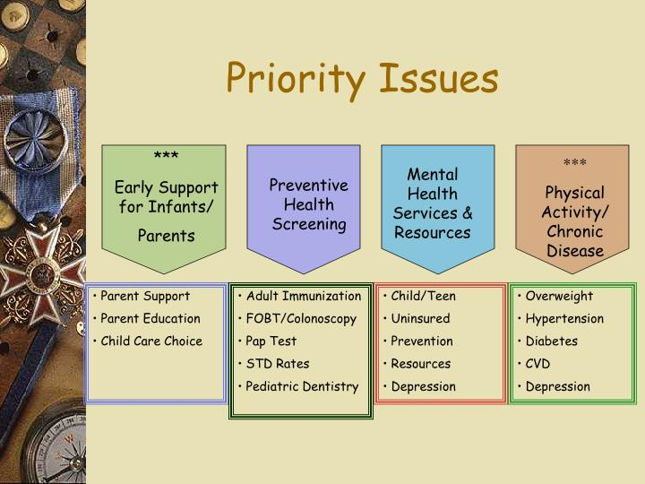 Priority Issues