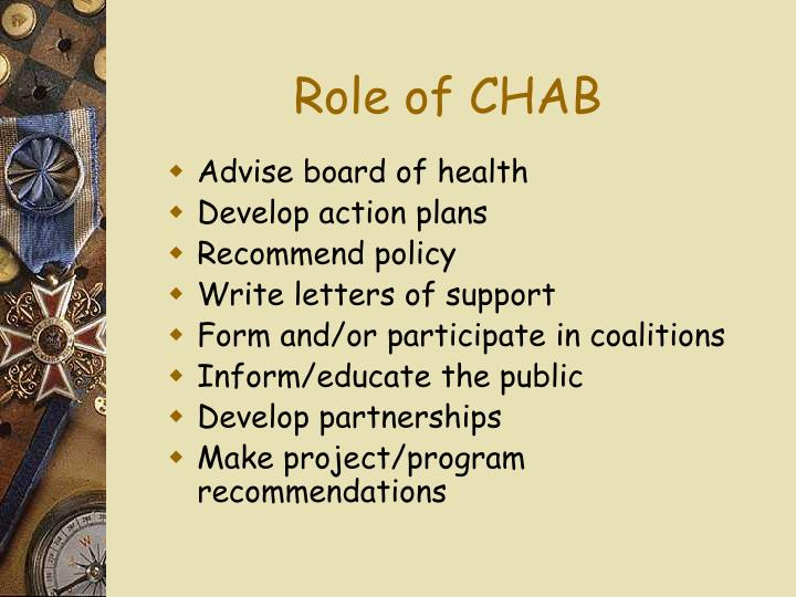 Role of CHAB