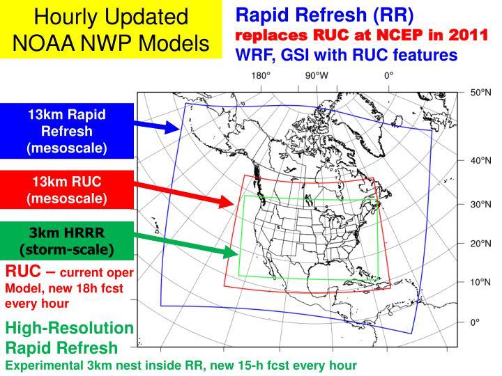 Hourly Updated NOAA NWP Models