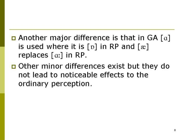 Another major difference is that in GA [