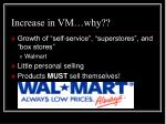 increase in vm why