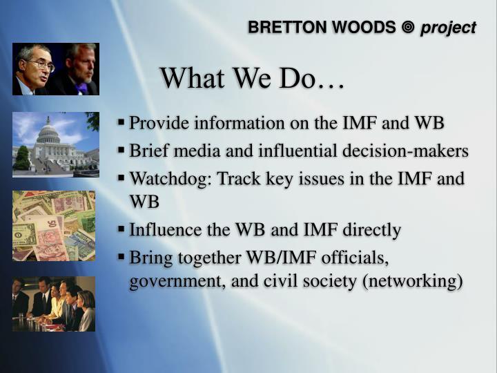 bretton woods project