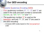 our qed encoding