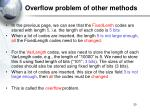 overflow problem of other methods