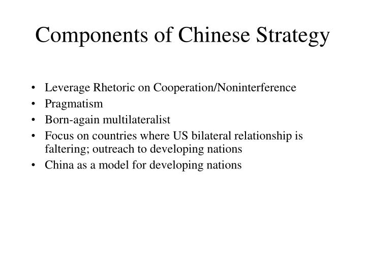 Components of chinese strategy