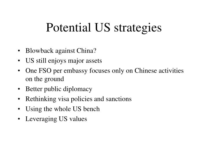 Potential US strategies
