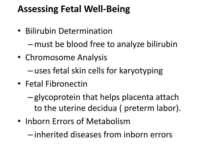 Assessing Fetal Well-Being