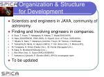 organization structure for development