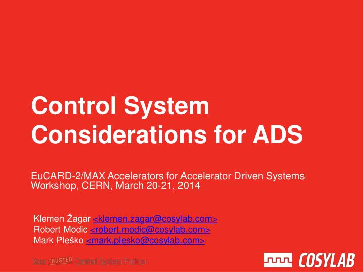 eucard 2 max accelerators for accelerator driven systems workshop cern march 20 21 2014 n.
