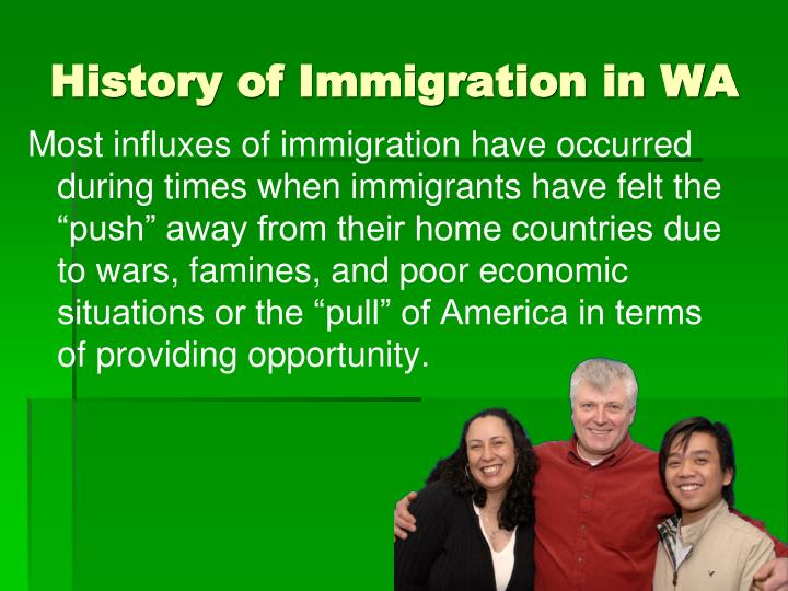 History of Immigration in WA