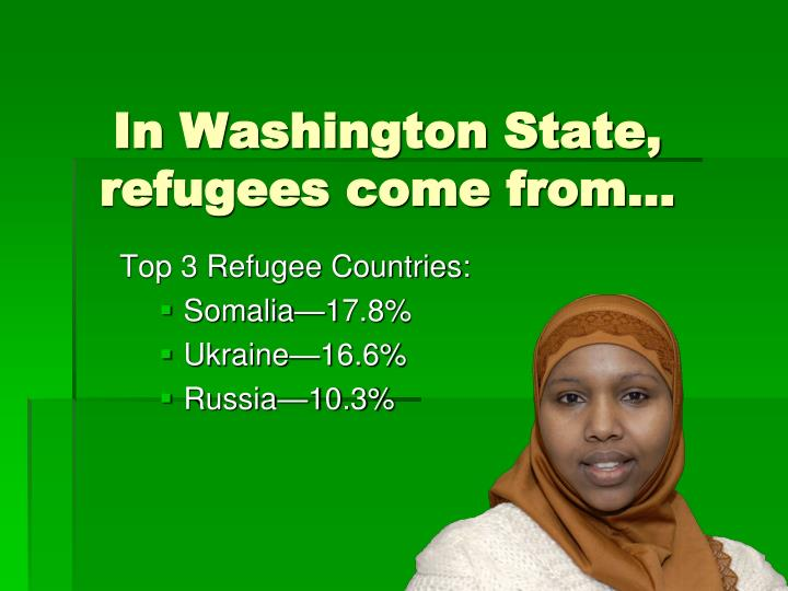 In Washington State, refugees come from…