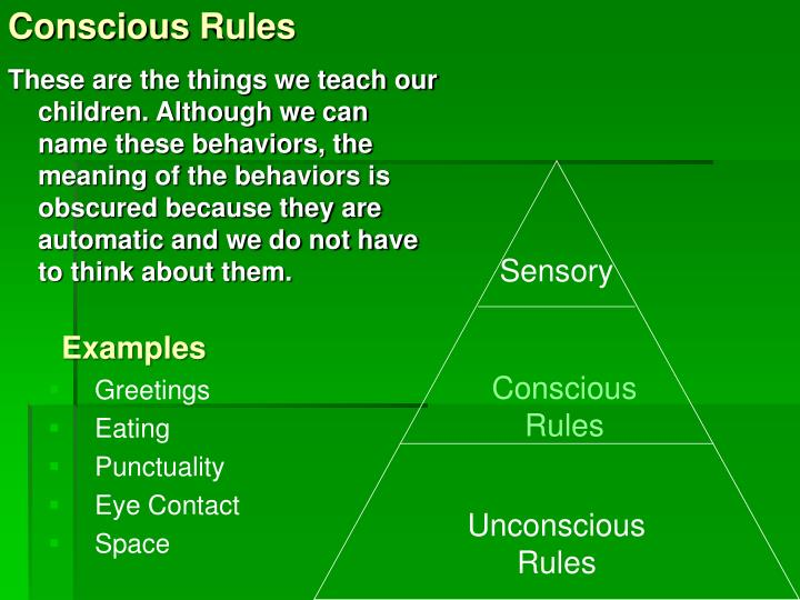 Conscious Rules