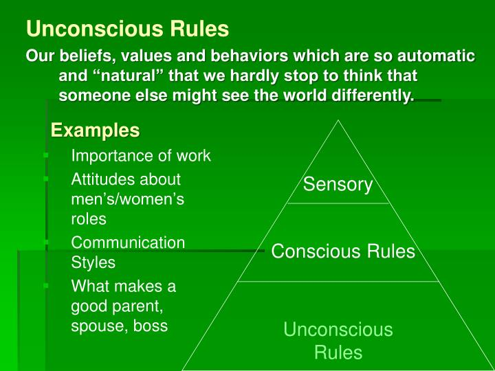 Unconscious Rules
