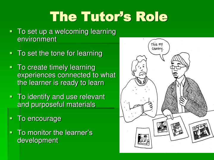 The Tutor's Role