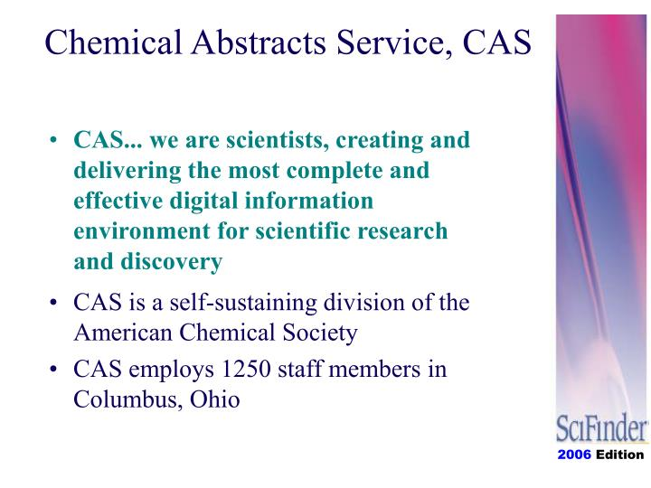 Chemical abstracts service cas