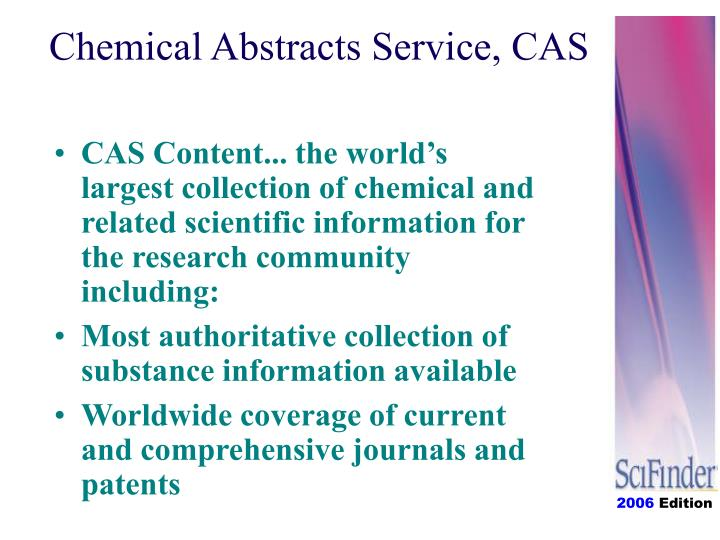 Chemical abstracts service cas1