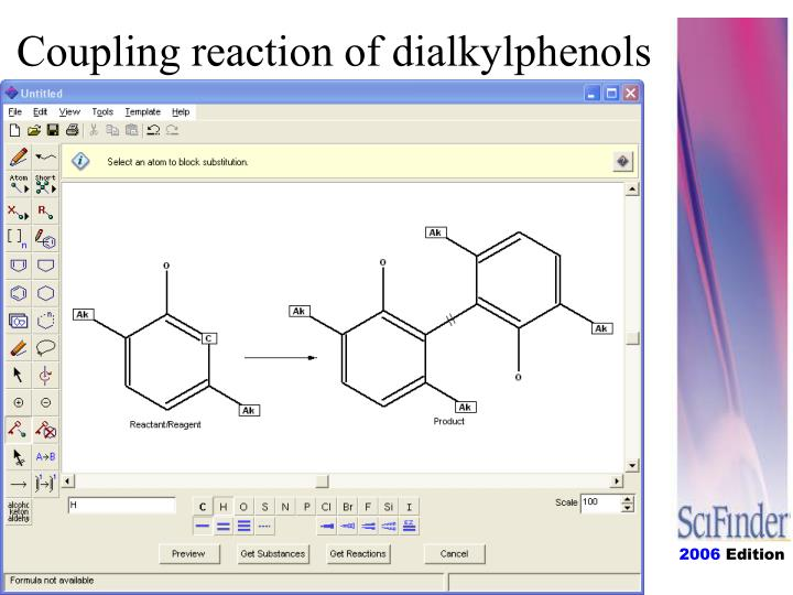 Coupling reaction of dialkylphenols