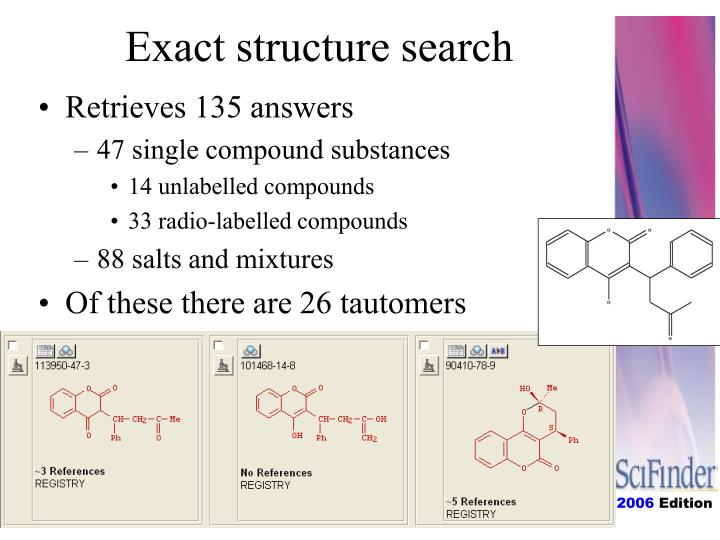 Exact structure search