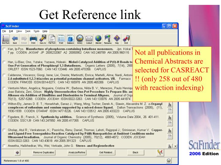 Get Reference link