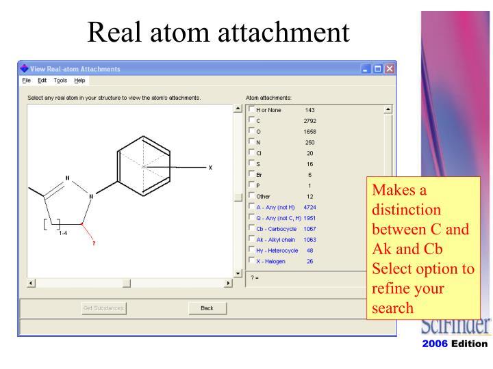 Real atom attachment