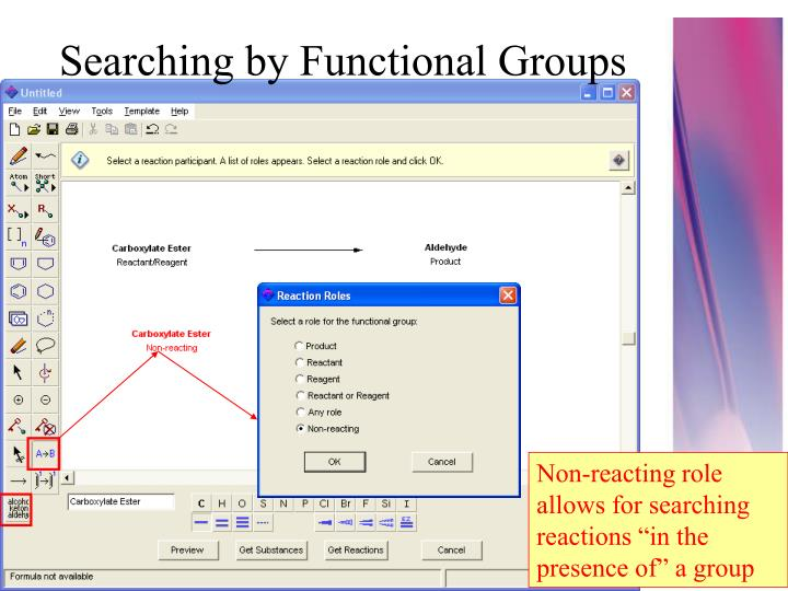 Searching by Functional Groups