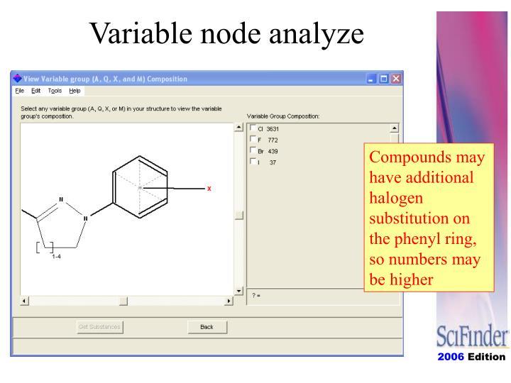 Variable node analyze
