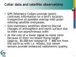 collar data and satellite observations
