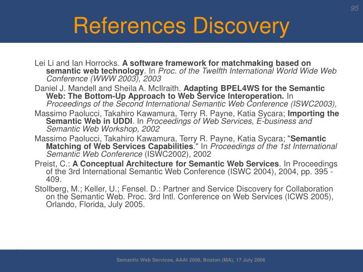 References Discovery
