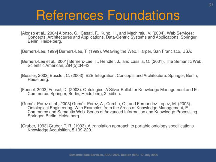 References Foundations