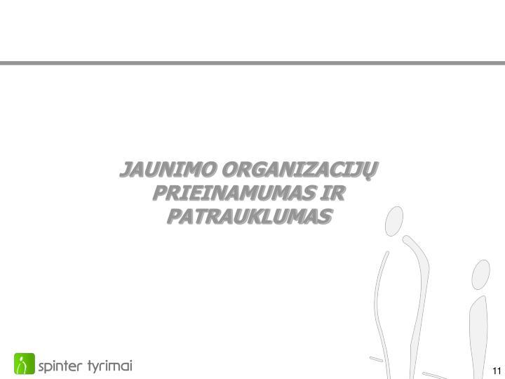 JAUNIMO ORGANIZACIJŲ PRIEINAMUMAS IR PATRAUKLUMAS