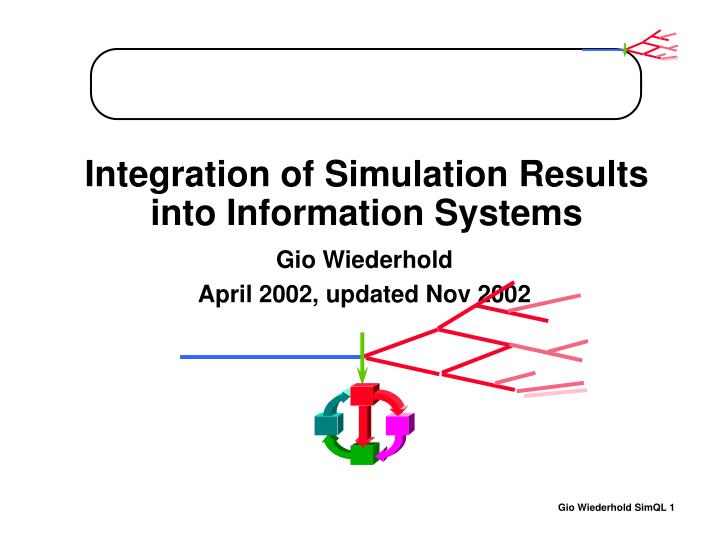 integration of simulation results into information systems n.