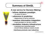 summary of simql