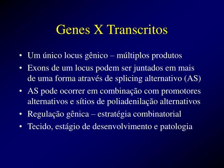 Genes x transcritos