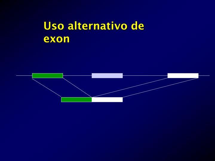 Uso alternativo de exon