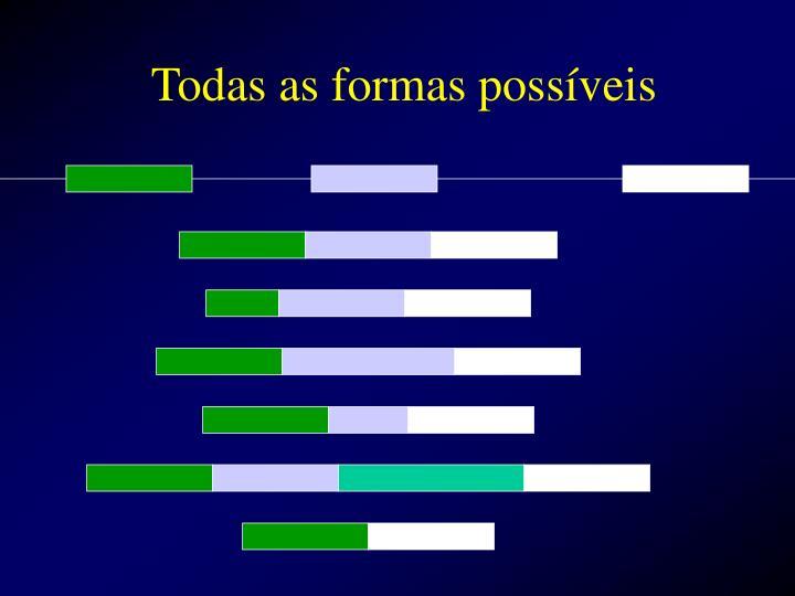 Todas as formas possíveis