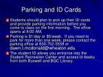 parking and id cards
