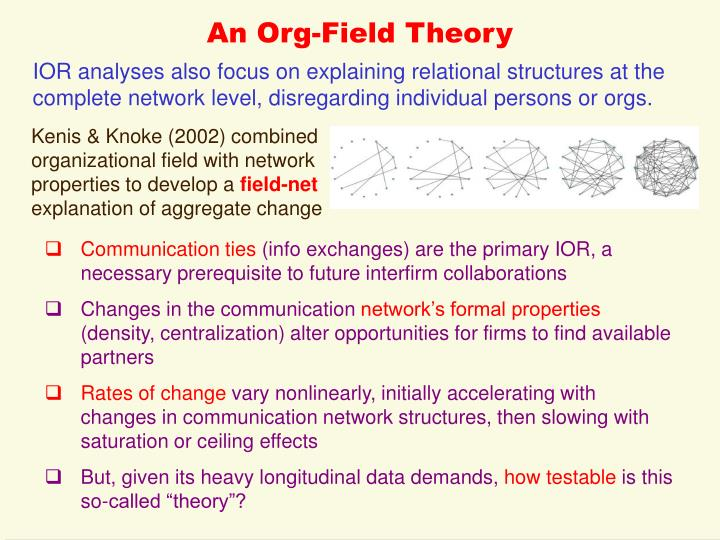 An Org-Field Theory