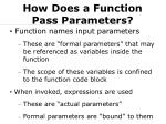 how does a function pass parameters