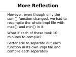 more reflection