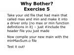 why bother exercise 5