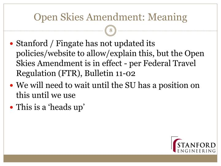 Open Skies Amendment: Meaning
