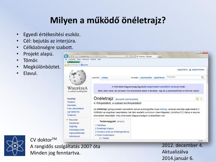 önéletrajz írás ppt PPT   CV doktor TM A rangidős szolgáltatás 2007 óta A CV írás  önéletrajz írás ppt