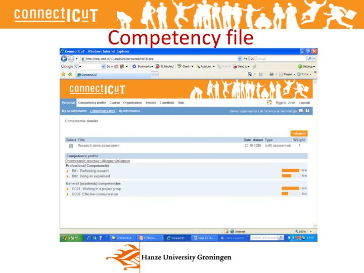 Competency file
