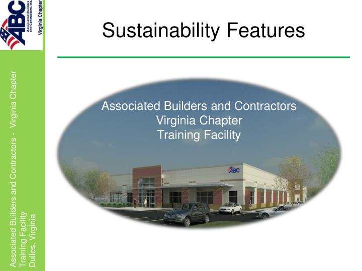 sustainability features n.