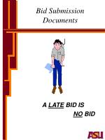 bid submission documents
